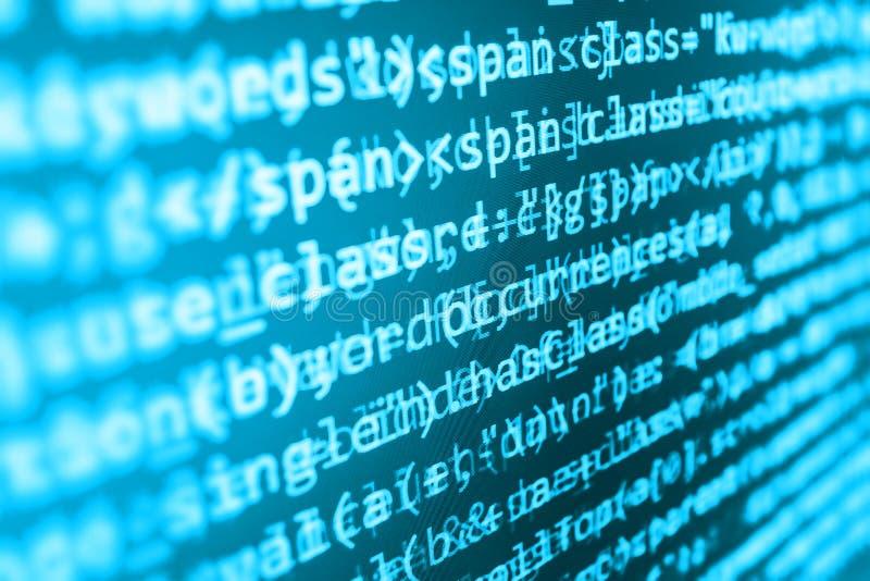 Codificando a tela de programação do código fonte ilustração do vetor
