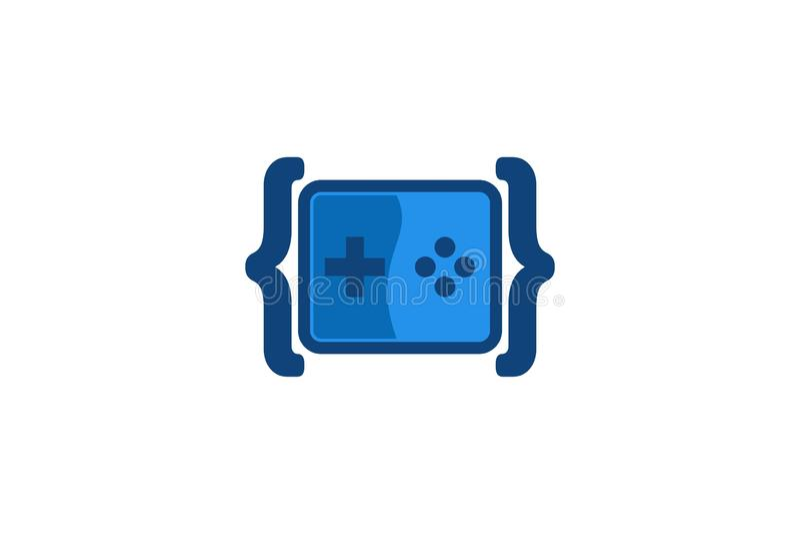 Codifique o jogo Logo Designs Inspiration, ilustração do vetor ilustração do vetor