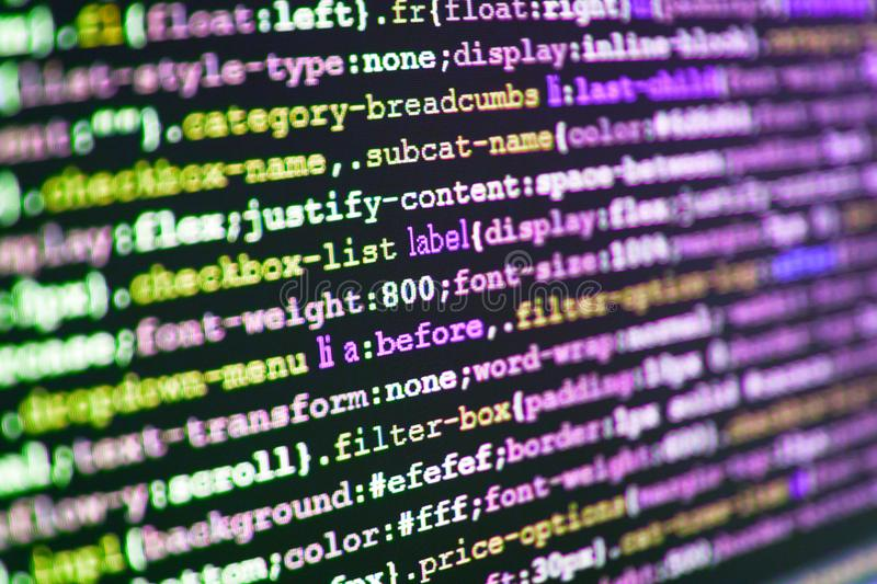 Coding cyberspace concept. stock images