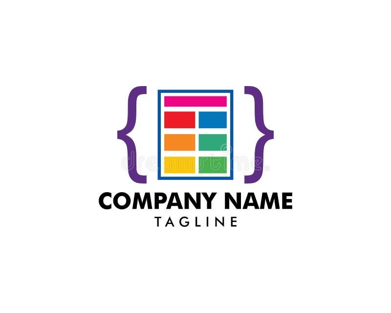Coding Icon Logo Template Illustration Design. Coding Icon Logo vector illustration