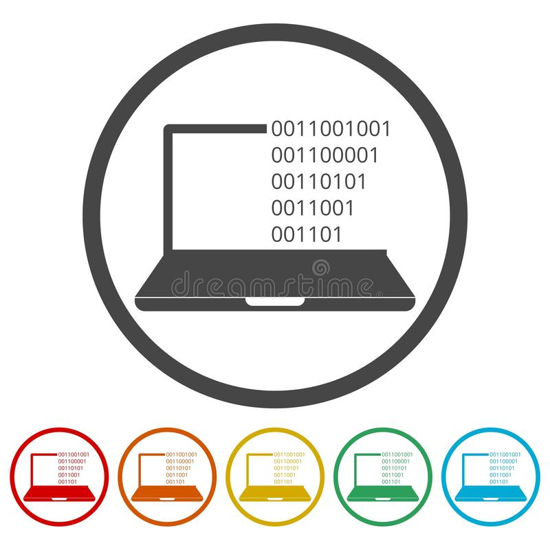 Coding icon. Simple vector icon royalty free illustration