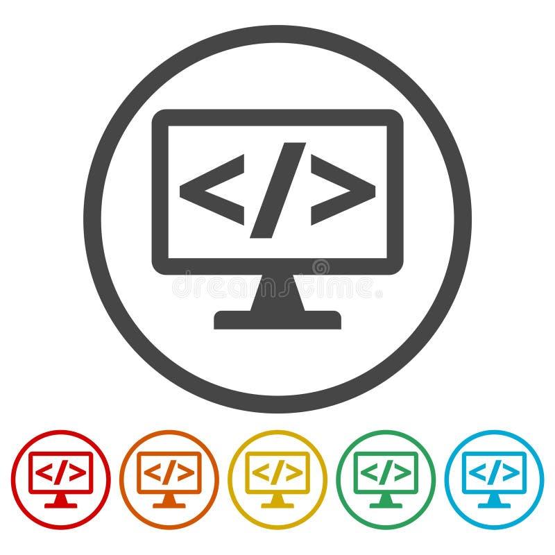 Coding icon. Simple vector icon vector illustration