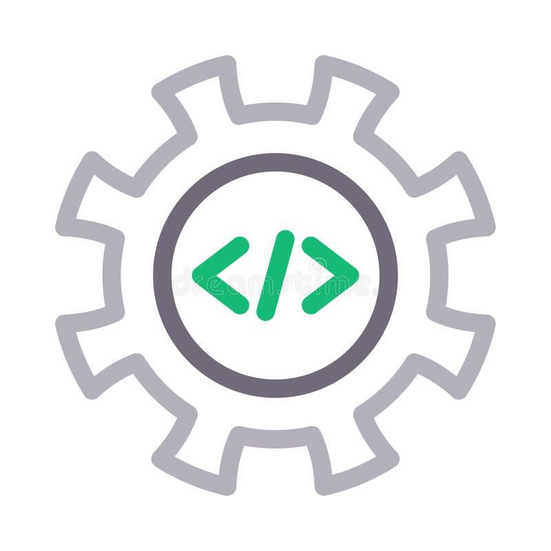 Coding Page Glyphs Icon Stock Illustration. Illustration