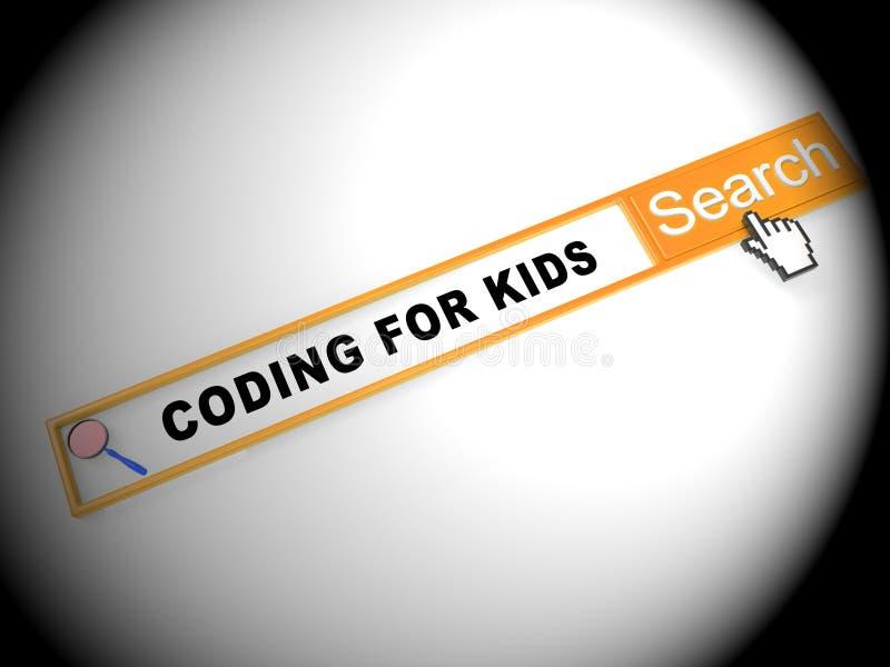 Coding For Kids Children Programming 2d Illustration vector illustration