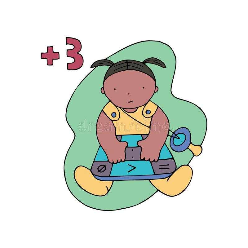 Coding similar. Children coding illustration. Coding for kids articles and sites. Programming education vector illustration