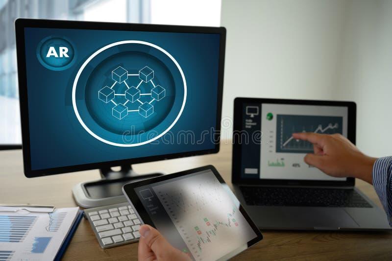 Coding software developer work with AR Developing programmer Team Development stock images