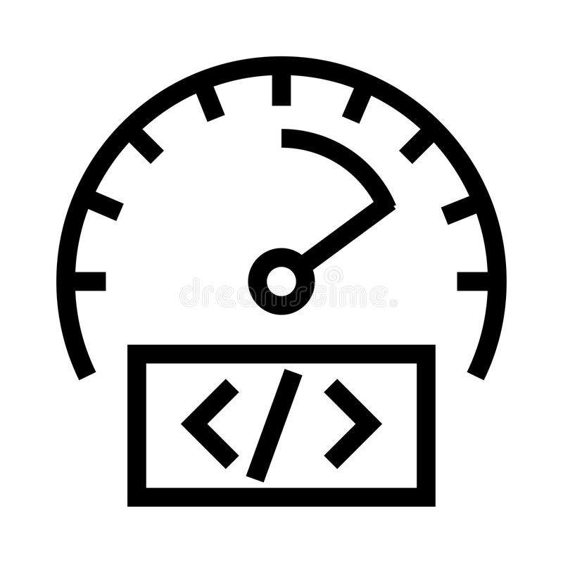 Coding vector line icon vector illustration
