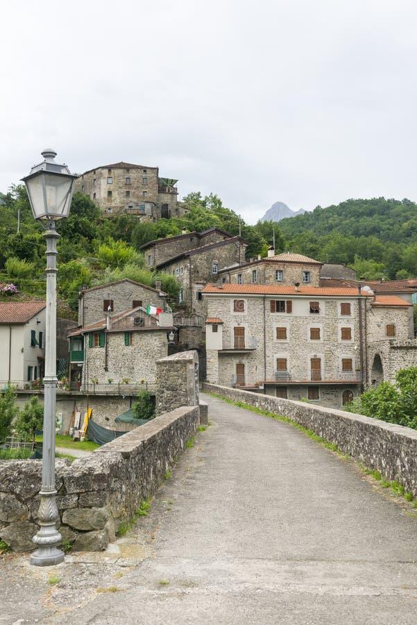 Codiponte, vecchio villaggio in Toscana immagini stock