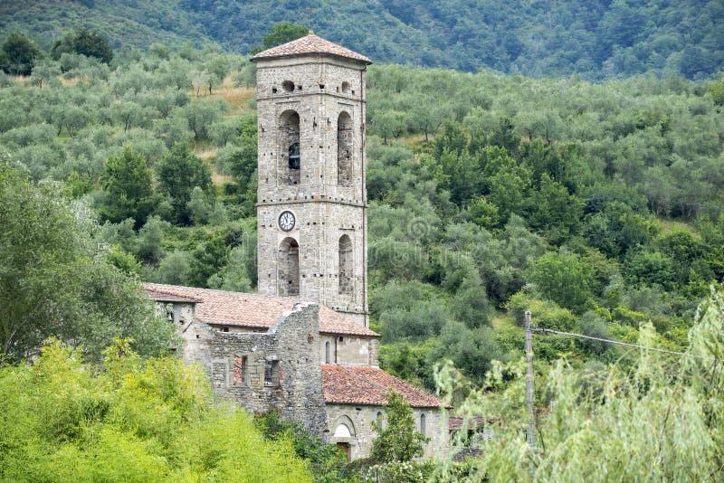 Codiponte, vecchio villaggio in Toscana immagine stock