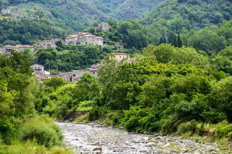 Codiponte, vecchio villaggio in Toscana fotografia stock