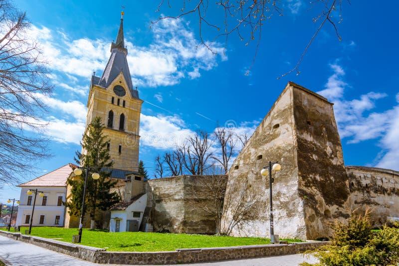 Codlea укрепило средневековую церковь, Румынию стоковая фотография