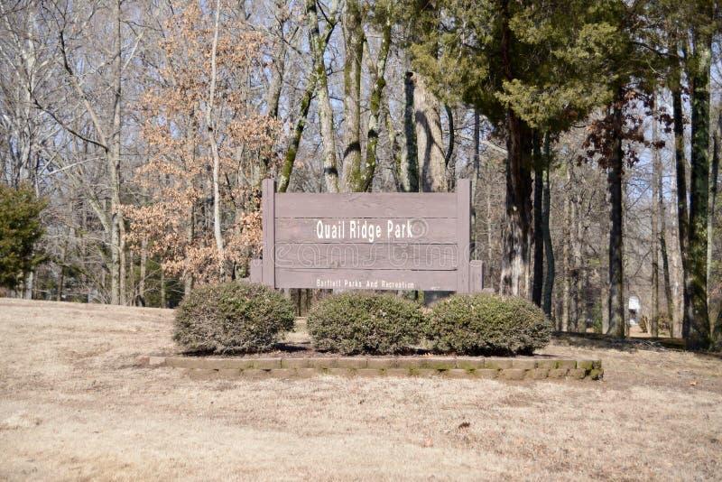 Codorniz Ridge Park, Bartlett, Tennessee imagem de stock royalty free