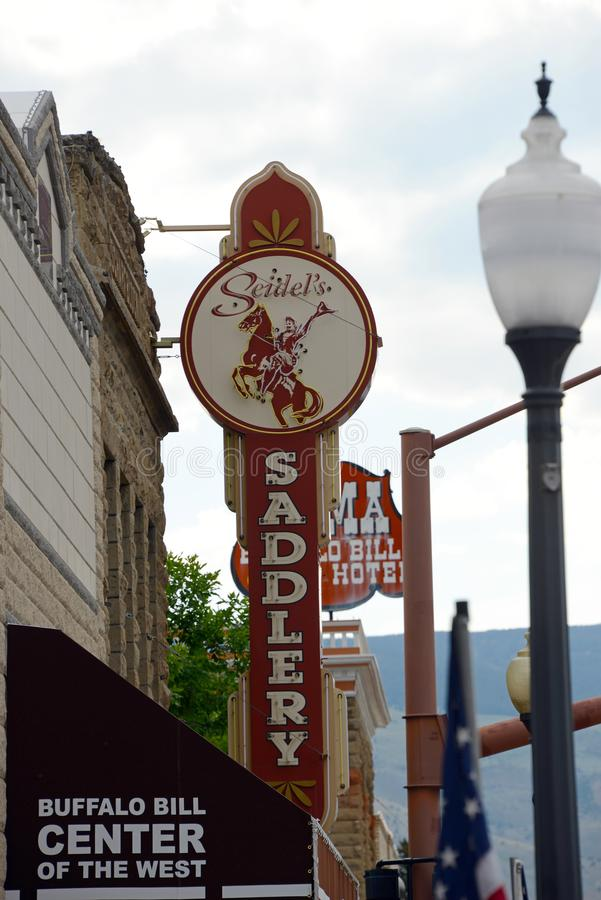 Saddlery. Cody, Wyoming, 07/12/2013 stock photography