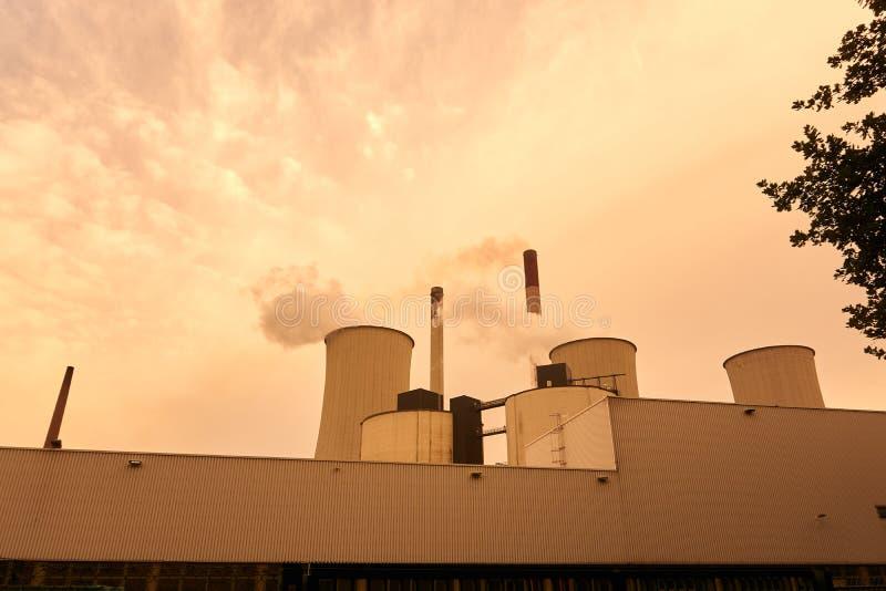 Coeal ha infornato la centrale elettrica immagine stock