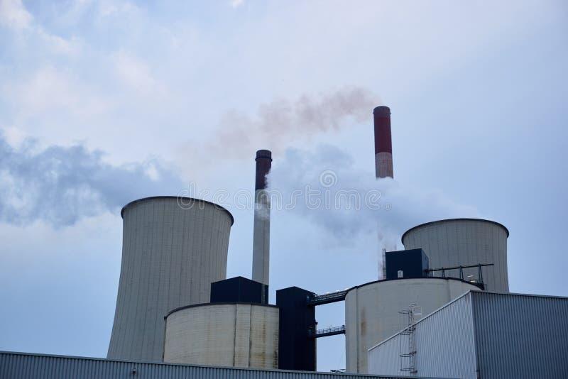 Coeal ha infornato la centrale elettrica immagini stock libere da diritti