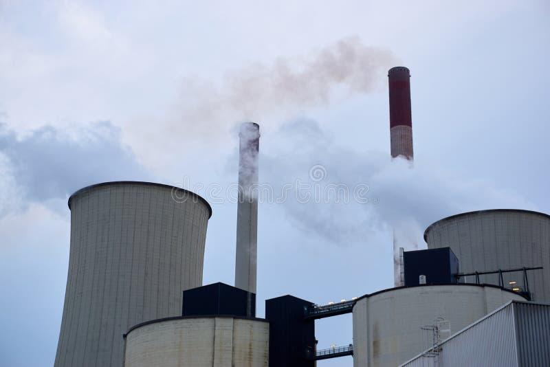 Coeal ha infornato la centrale elettrica fotografia stock