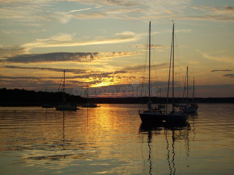 Coecles Harbor Sunset stock photos