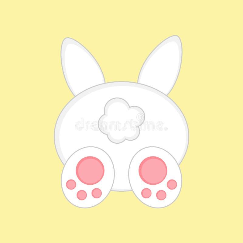Coelhinho da Páscoa bonito da vista traseira ilustração stock