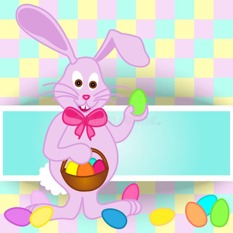 Cartão do coelhinho da Páscoa