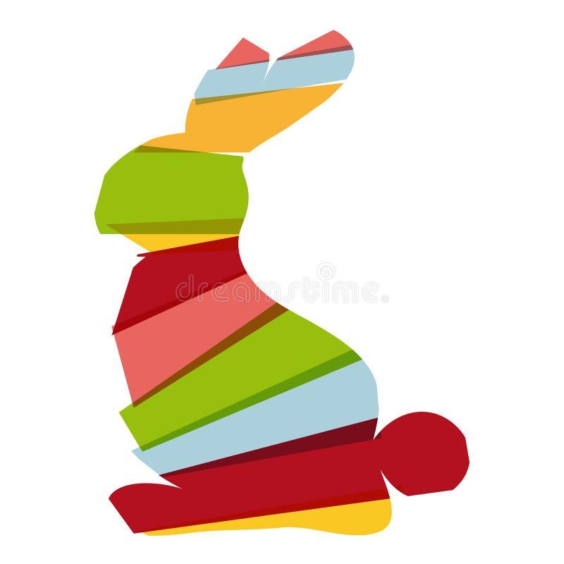 Coelhinho da Páscoa da diversidade ilustração do vetor