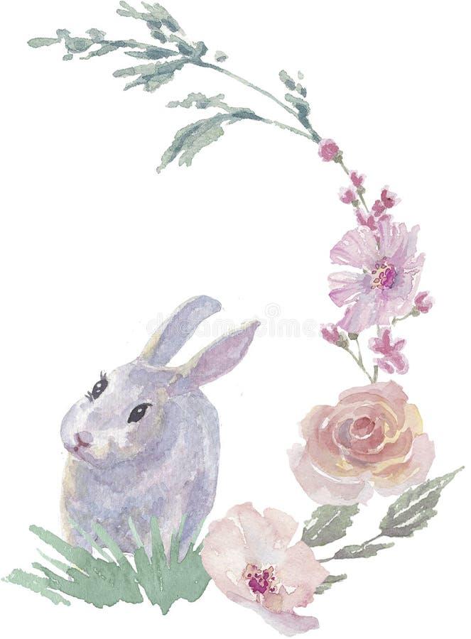 Coelhinho da Páscoa floral foto de stock