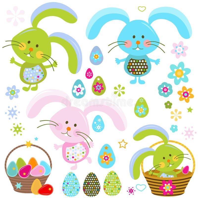 Coelhinhos da Páscoa ilustração stock