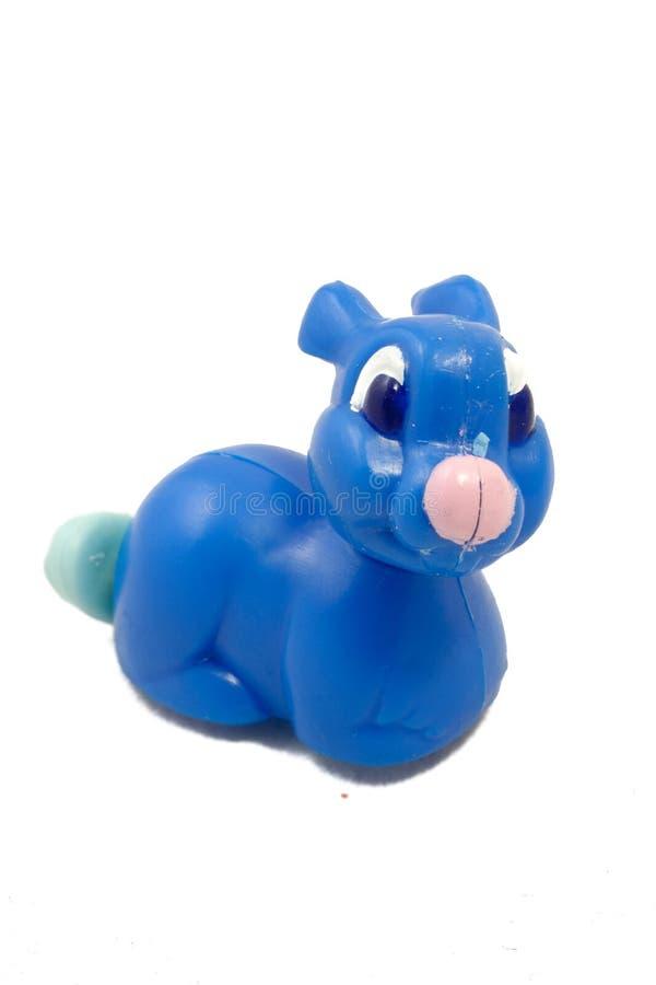 Coelho azul do brinquedo imagem de stock royalty free