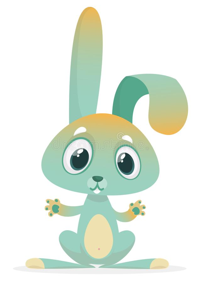 Coelho bonito dos desenhos animados Animais da floresta Ilustração do vetor Projete para a cópia, a decoração do partido, o livro ilustração royalty free