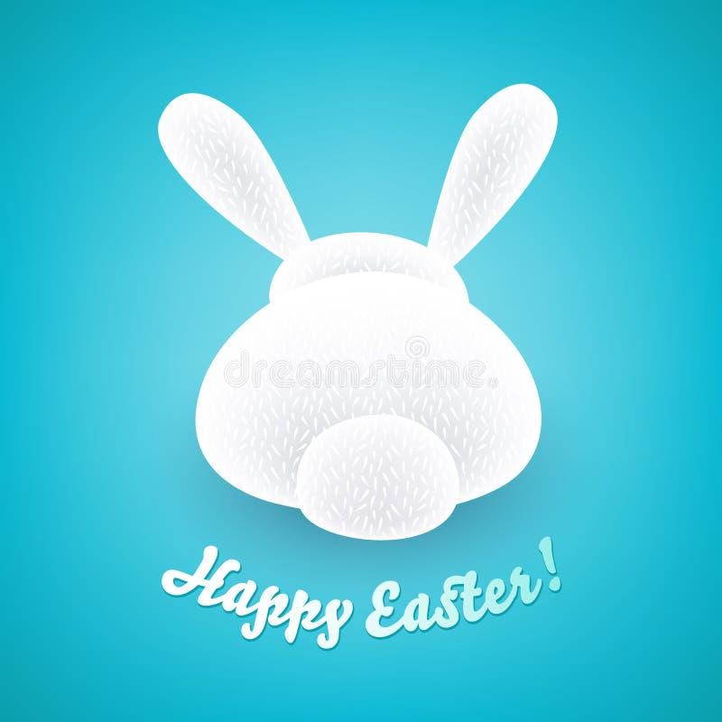 Coelho de Easter bonito Opinião traseira do coelho ilustração do vetor