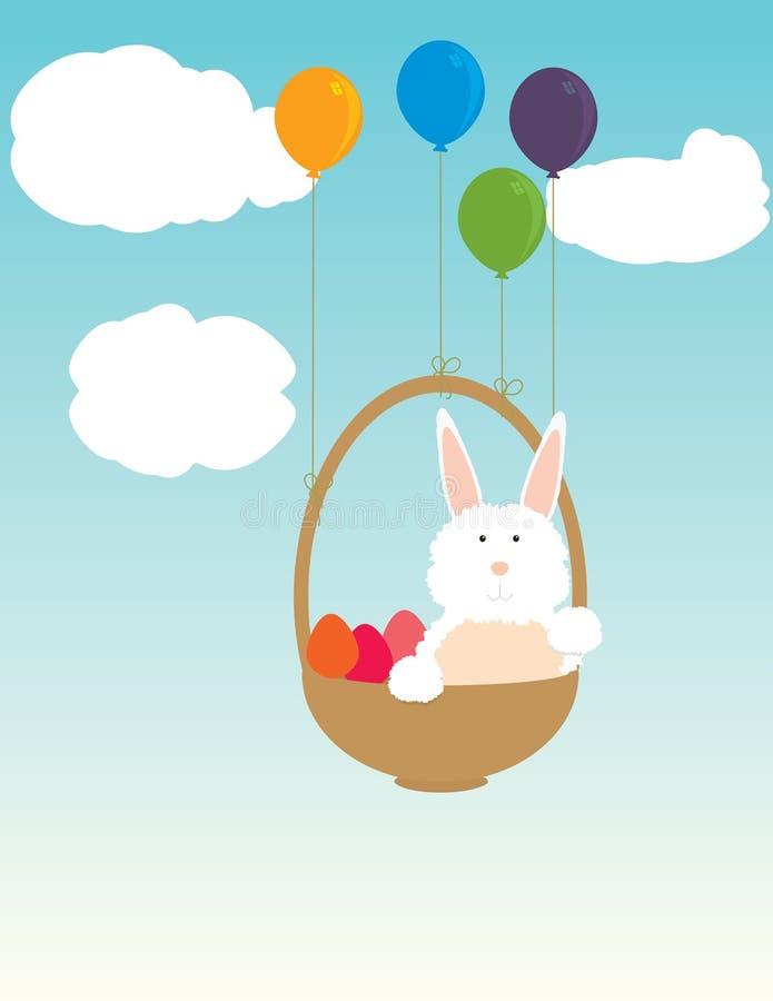 Download Coelho De Easter Que Flutua Na Cesta Ilustração do Vetor - Ilustração de bunny, coelho: 12801798