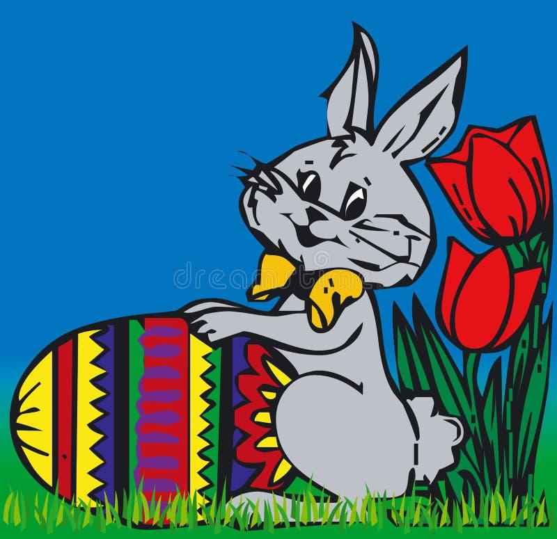 Coelho de Easter - vetor ilustração stock
