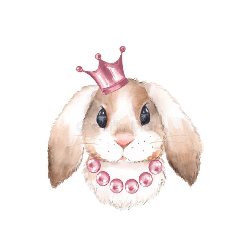 Coelho e coroa ilustração royalty free