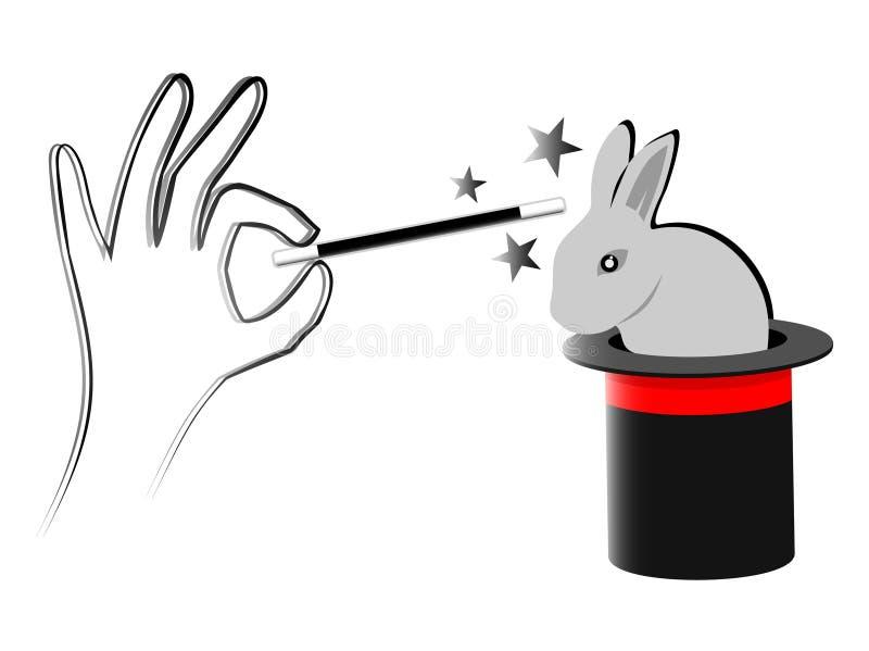Coelho mágico ilustração stock
