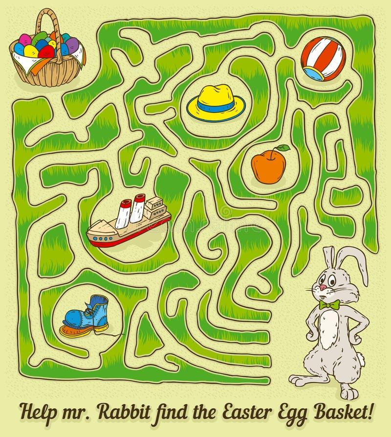 Coelho Maze Game da Páscoa ilustração stock
