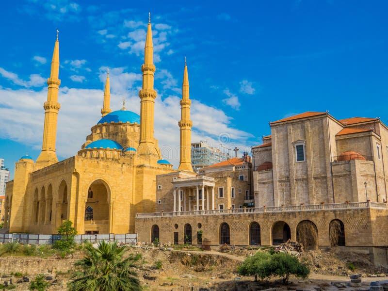 Coesistenza delle religioni nel Libano immagine stock