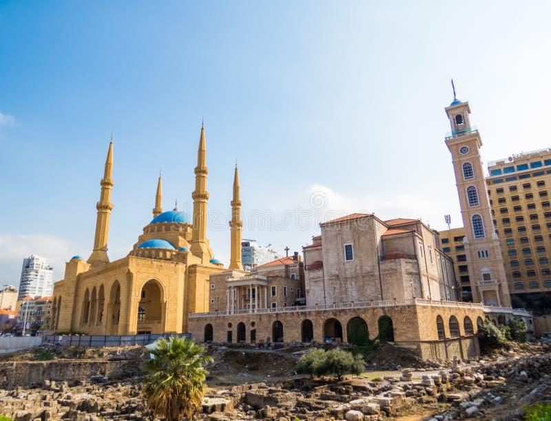 Coesistenza delle religioni nel Libano fotografia stock