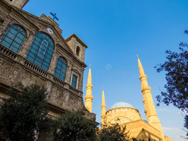 Coesistenza delle religioni nel Libano immagini stock libere da diritti