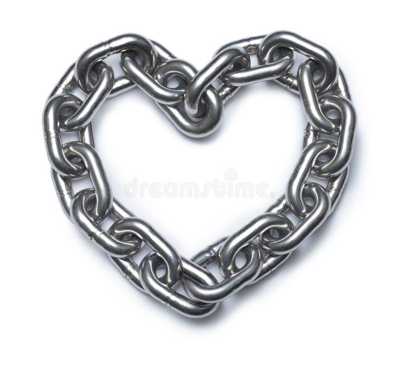 Coeur à chaînes d'amour photographie stock libre de droits