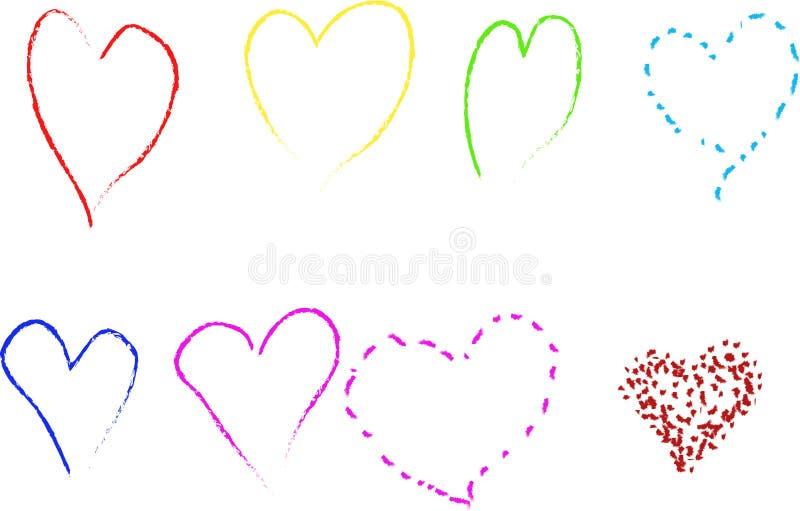 Coeur 2 photos libres de droits