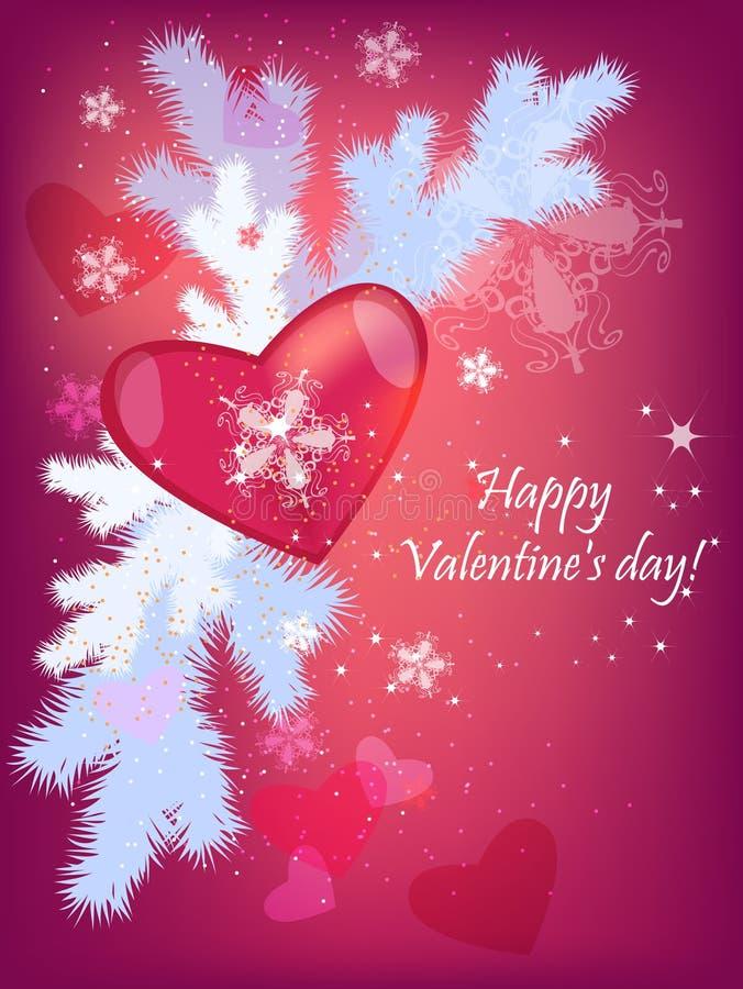 Coeur 2 de Valentine illustration de vecteur