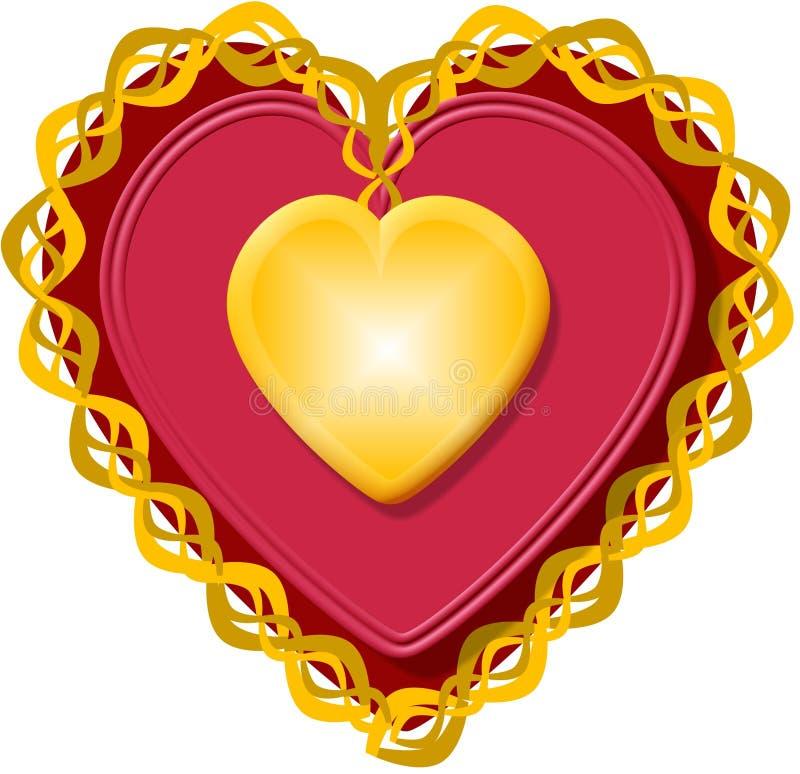 Coeur 3 De Valentine Photographie stock libre de droits