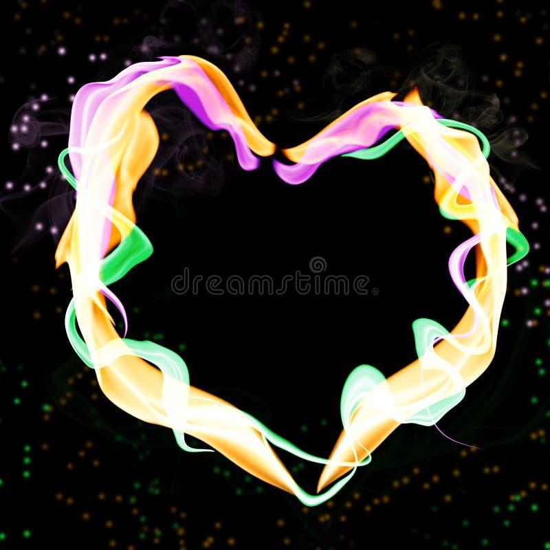 Coeur abstrait coloré illustration libre de droits
