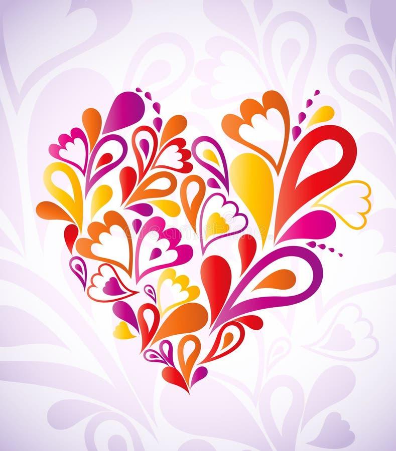 Coeur abstrait coloré. Vecteur illustration stock