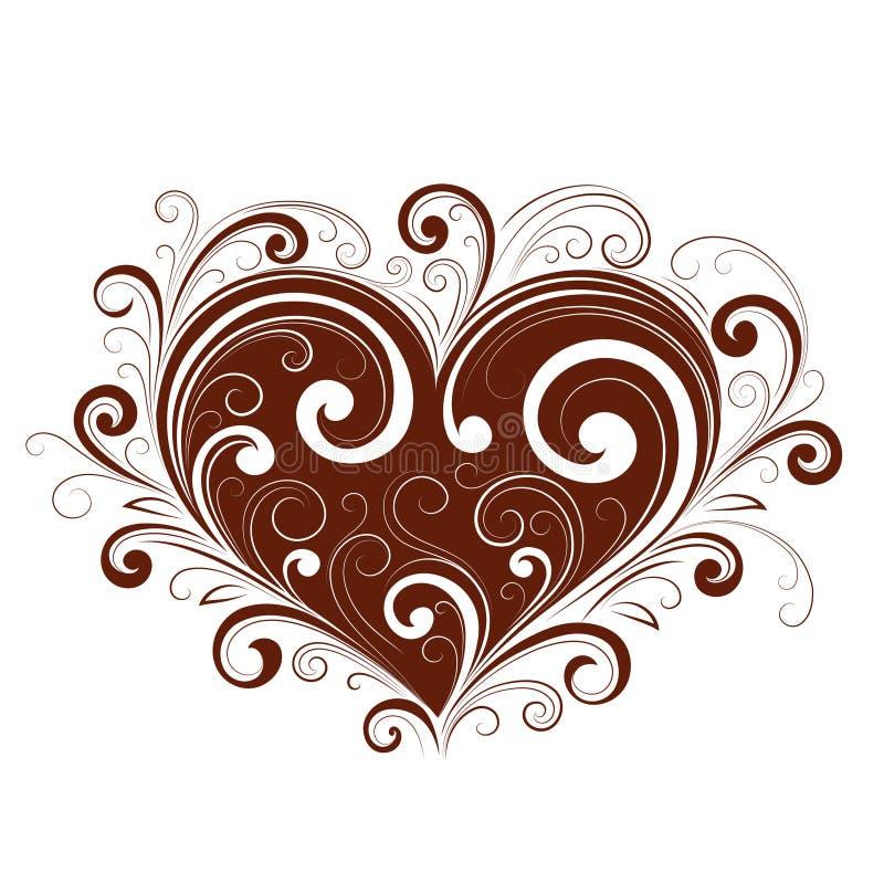 Coeur abstrait de valentine illustration stock