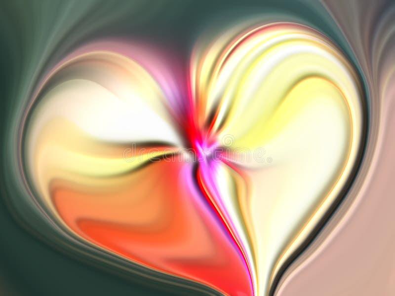 Coeur abstrait de valentine avec le fond texturisé image stock
