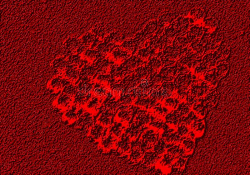 Coeur abstrait de valentine avec le fond texturisé photo stock