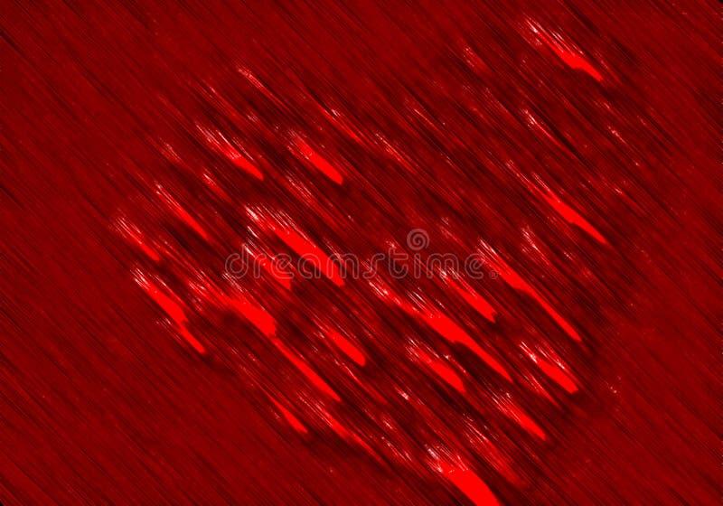 Coeur abstrait de valentine avec le fond texturisé images libres de droits