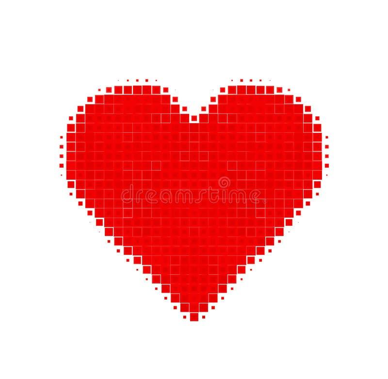 Coeur abstrait des places illustration stock