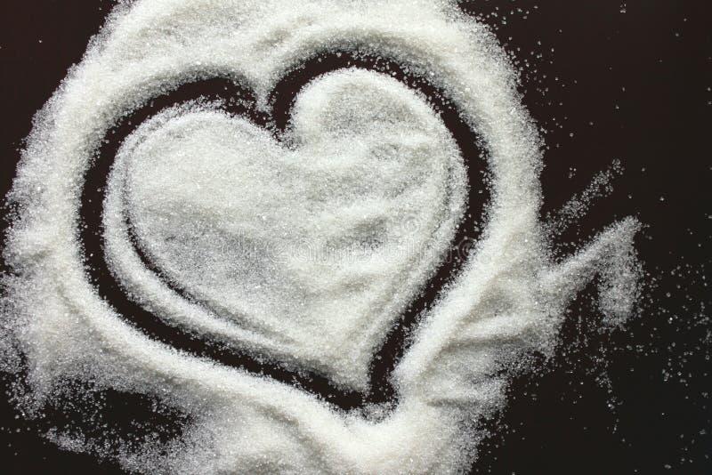 Coeur abstrait des textures de sucre images stock