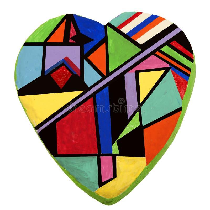 Coeur abstrait peint à la main illustration stock